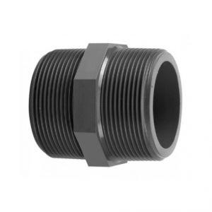 """NIPPLO FILETTATO 1"""" 1/2 MASCHIO MASCHIO - Realizzato in PVC di elevata qualità"""