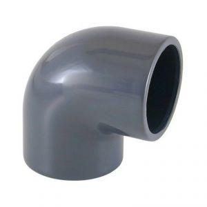 GOMITO RIGIDO 90° F/F AD INCOLLAGGIO DIAMETRO 50 MM - Curva Chiusa PVC ideale anche per impianti piscina