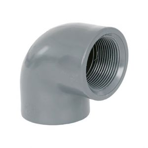 """GOMITO RIGIDO 90° F/F FILETTATO Ø 2"""" - Raccordo PVC ad avvitare con curva chiusa"""