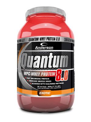 Anderson Quantum 8.0 2000 g Exotic - Proteine del siero del latte concentrate (W.P.C.) Vitamine Beta Alanina
