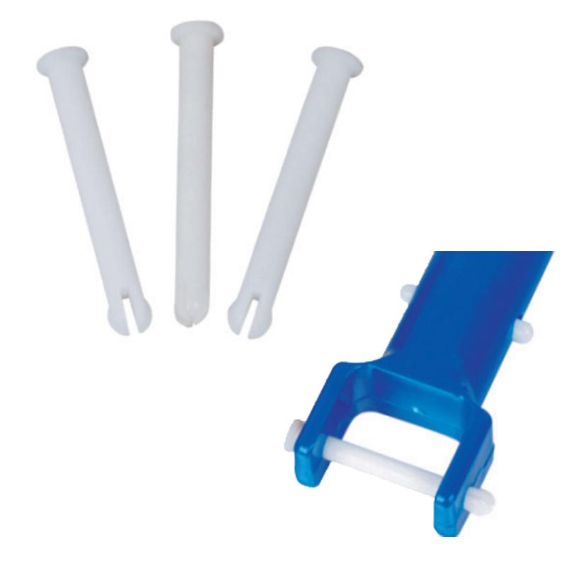 SET 3 PERNI PER TESTE ASPIRANTI PISCINA - Clip di bloccaggio per teste aspirafango