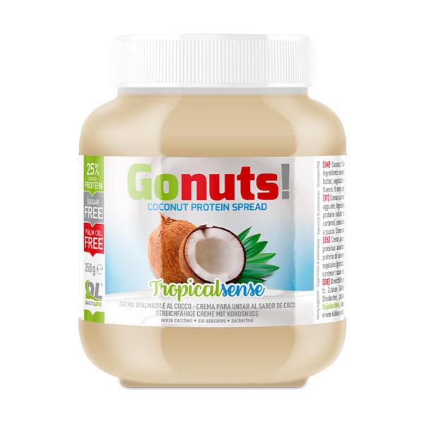 Anderson Daily life Gonuts! TropicalSense al Cocco 350 g - Crema spalmabile al cocco - Crema proteica TropicalSense