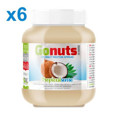 Anderson Daily life Box 6 Gonuts! TropicalSense Cocco 6x350 g - Crema spalmabile al cocco - Crema proteica TropicalSense
