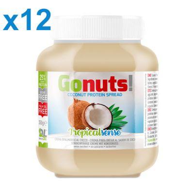 Anderson Daily life Box 12 Gonuts! TropicalSense Cocco 12x350 g - Crema spalmabile cocco - Crema proteica TropicalSense