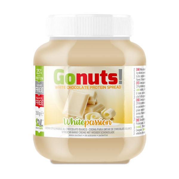 Anderson Daily life Gonuts! WhitePassion al Cioccolato Bianco 350 g - Crema spalmabile al Cioccolato Bianco