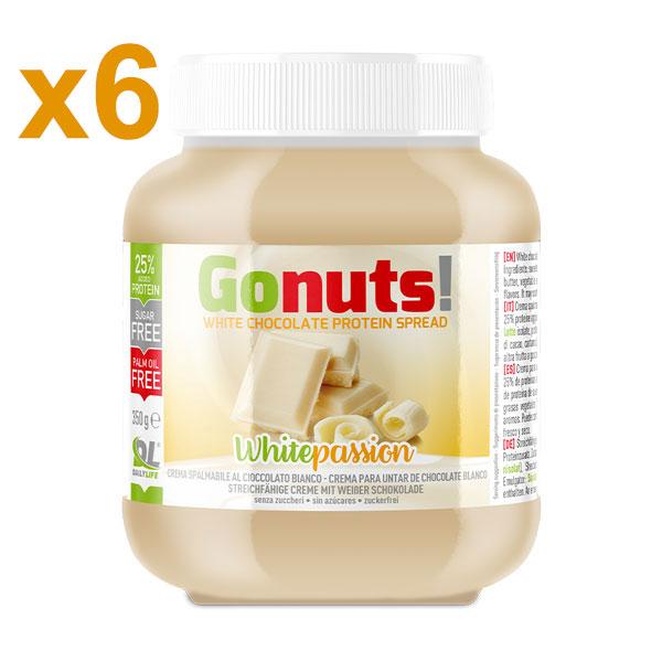 Anderson Daily life Box 6 Gonuts! WhitePassion al Cioccolato Bianco 6x350 g - Crema spalmabile al Cioccolato Bianco
