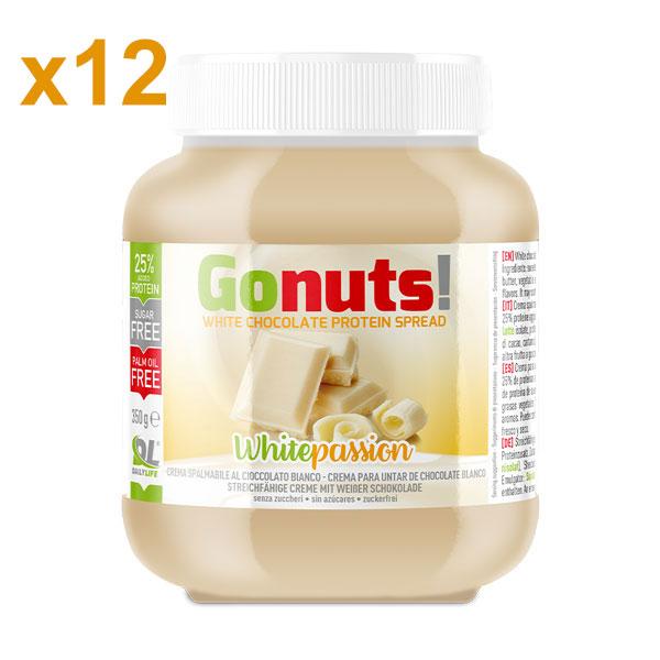 Anderson Daily life Box 12 Gonuts! WhitePassion al Cioccolato Bianco 12x350 g - Crema spalmabile al Cioccolato Bianco