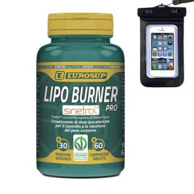 Eurosup Lipo Burner Pro 60 cpr - Coadiuvante diete ipocaloriche - Metabolismo dei grassi - Omaggio Custodia Subacquea