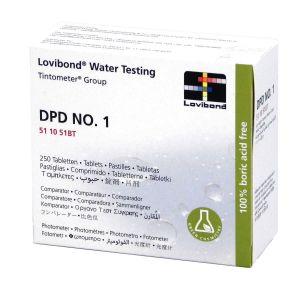 Fluidra Lovibond Water Testing DPD NO.1 250 Compresse - Reagente per misura di Cloro Libero con fotometro