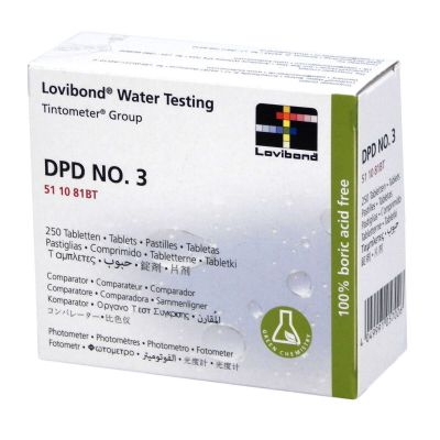 Fluidra Lovibond Water Testing DPD NO.3 250 Compresse - Reagente per misura di cloro totale con fotometro
