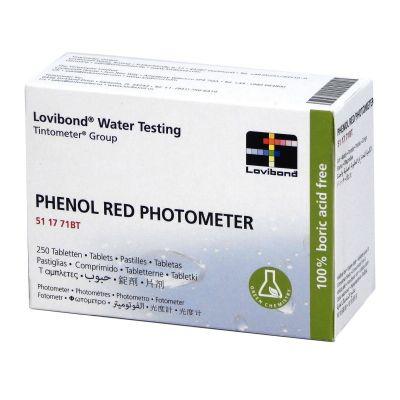 Lovibond PHENOL RED, scatola con 250 compresse - Pastiglie reagenti per l'analisi del ph in piscina