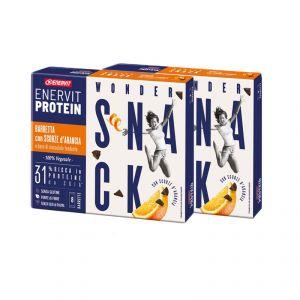 Enervit Protein Box 16 Barrette con Scorze d'arancia e Base di Cioccolato Fondente - Proteine da soia - 100% Vegetale