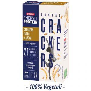 Enervit Protein Astuccio 7 minipack Casual Crackers Salati con Farro e Avena - 21% ricchi in proteine - 100% vegetali
