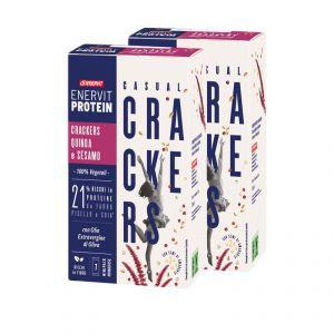 Enervit Protein 14 minipack Casual Crackers Salati con Quinoa e Sesamo - 21% ricchi in proteine - 100% vegetali