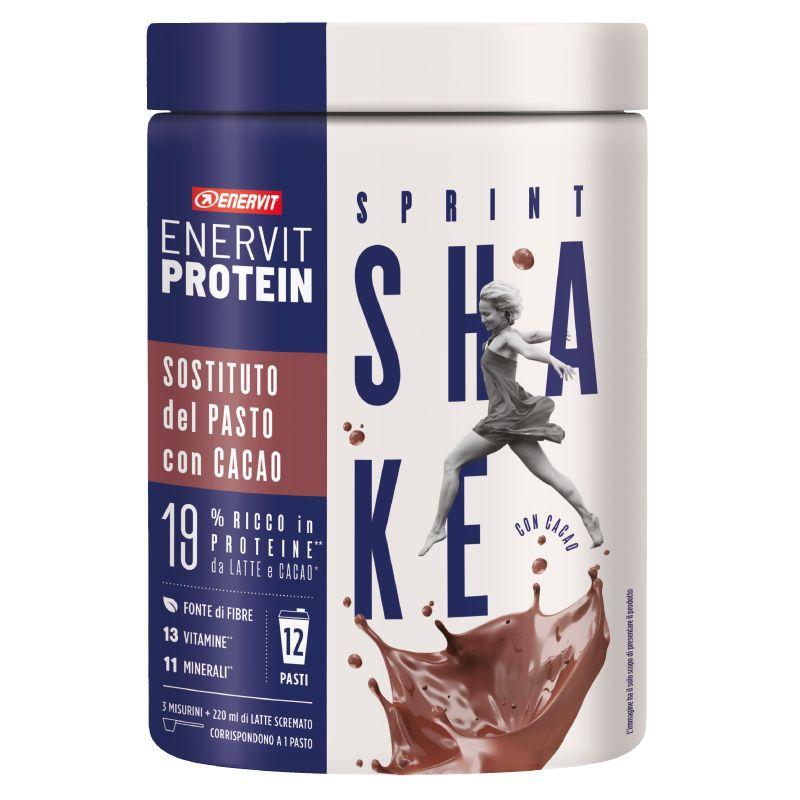 Enervit Protein Sprint Shake con Cacao 420 g - Sostituto del pasto - 12 Pasti
