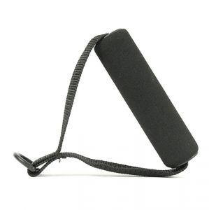 Toorx Coppia di maniglie nere per fasce elastiche - Impugnature soft touch con gancio e cuciture rinforzate