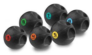 Palla Medica con Maniglia - Peso 3 kg, Diametro 23 cm