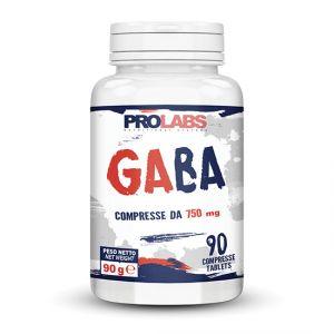 Prolabs Gaba 90 cpr da 750 mg - Integratore di acido gamma-aminobutirrico - Neurotrasmettitore inibitorio
