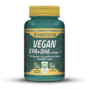 Eurosup VEGAN EPA+DHA OMEGA 3 60 softgel - Acidi grassi Omega 3 da olio algale - Funzione cardiovascolare - Vegano
