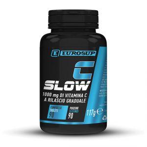 Eurosup C SLOW 90 cpr - Integratore alimentare di vitamina C a rilascio graduale e alto dosaggio