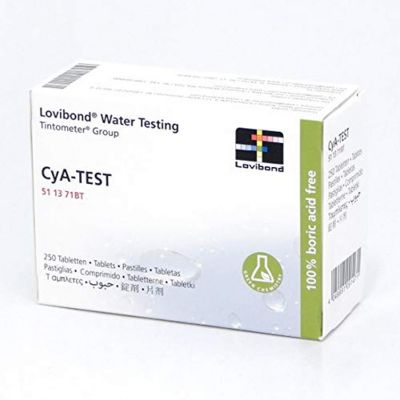 Lovibond Cya-TEST, scatola con 250 compresse - Pastiglie reagenti per l'analisi dell'acido cianurico in piscina