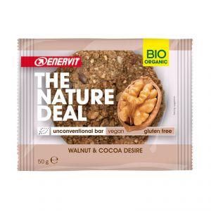 Enervit The Nature Deal unconventional bar Walnut & Cocoa Desire 50 g - Snack biologico con fave di cacao e noci