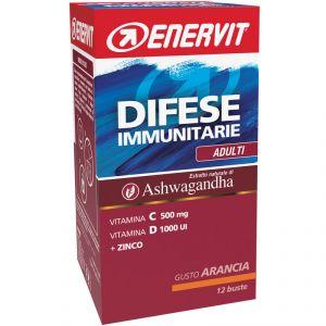 Enervit Difese Immunitarie Adulti Box buste 12x8g Arancia - Vitamine, minerali ed estratto vegetale di Ashwagandha