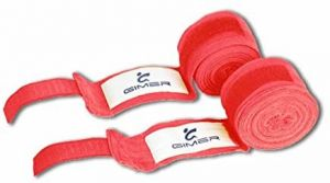 Bende Sottoguanto Rosse in Cotone Lunghezza 4 Metri - Bendaggi Protettivi ideali per la Boxe e le Arti Marziali