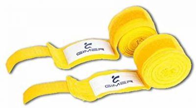 Bende Sottoguanto Gialle in Cotone Lunghezza 4 Metri - Bendaggi Protettivi ideali per la Boxe e le Arti Marziali