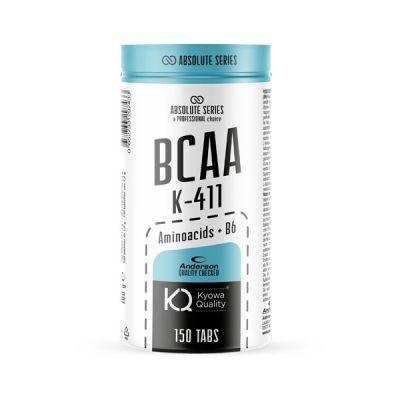 Anderson Absolute Series BCAA k-411 150 cpr - Integratore di Aminoacidi Ramificati Kiowa® in rapporto 4:1:1 con Vit. B6