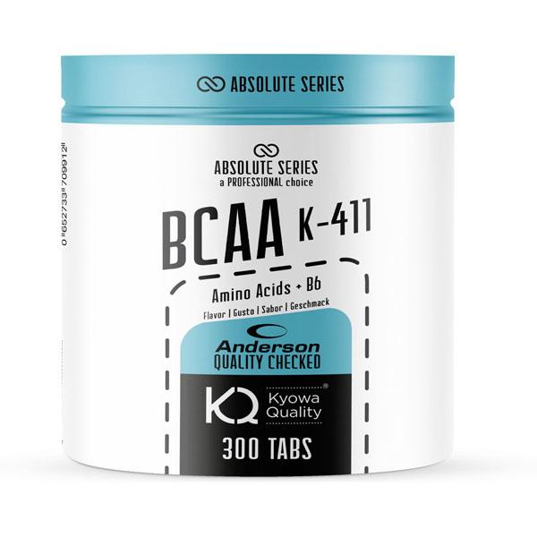 Anderson Absolute Series BCAA k-411 300 cpr - Integratore di Aminoacidi Ramificati Kiowa® in rapporto 4:1:1 con Vit. B6