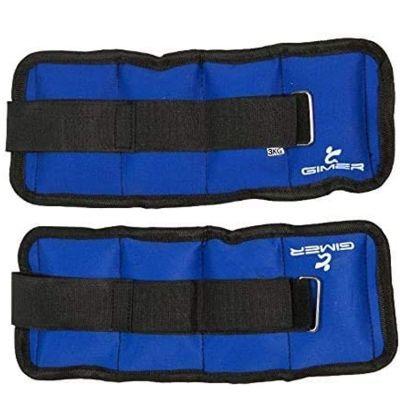 Coppia Cavigliere Polsiere Blu 2 x 1,5 kg Totale 3 kg mod. Gimer 13/003 - Ricoperte in Nylon di ottima qualità