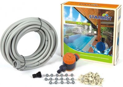 STARMIST PATIO MISTER 32 COMBO Lunghezza 12,8 Metri - Sistema Nebulizzatore Acqua per Esterni