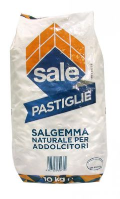 PASTIGLIE DI SALGEMMA ITALKALI, 5 SACCHI DA 10 KG - Sale 100% naturale specifico per addolcitori e generatori di cloro