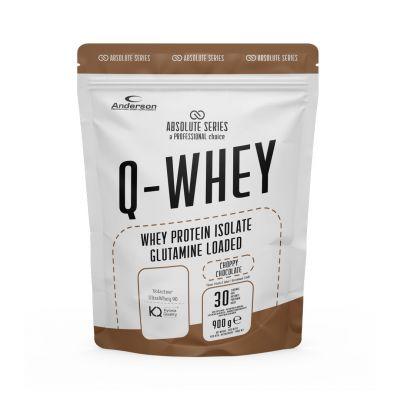 Absolute Series Q-WHEY Choppy chocolate 900 g- Integratore di Proteine del siero del latte isolate in polvere solubile