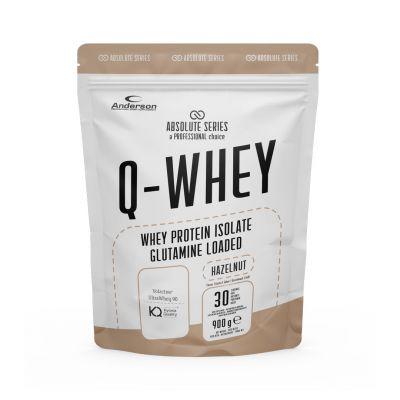 Absolute Series Q-WHEY Hazelnut 900 g- Integratore di Proteine del siero del latte isolate in polvere solubile