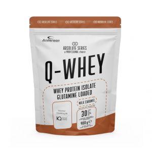 Absolute Series Q-WHEY Milk Caramel 900 g- Integratore di Proteine del siero del latte isolate in polvere solubile