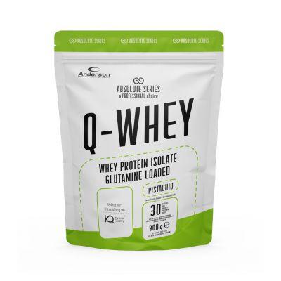 Absolute Series Q-WHEY Pistacchio 900 g- Integratore di Proteine del siero del latte isolate in polvere solubile