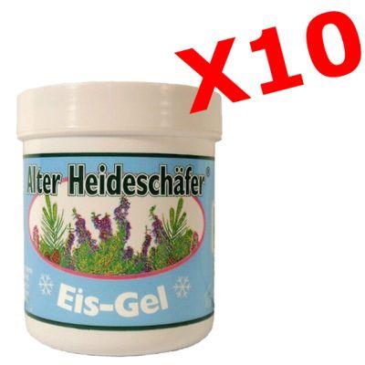 """10X ALTER HEIDESCHAFER EIS-GEL - """"PACCHETTO MAXI RISPARMIO"""" con 10 barattoli da 100 ml di Crema gel ad effetto ghiaccio"""