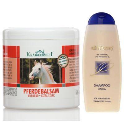 Balsamo Cavallo Rosso Scaldante Extra-Forte in Barattolo da 250 ml + Almicare Shampoo con Vitamina C conf 500 ml