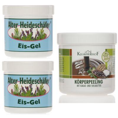 PROMO PACK con 2 Barattoli da 250 ml di Alter Heideschafer Gel Ghiaccio + Peeling corpo al burro di cacao e di Shea 400g