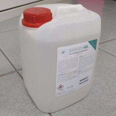 MANIGEN MANI Tanica 5 Litri - Gel Lavamani Igienizzante 75% Alcool con Glicerina