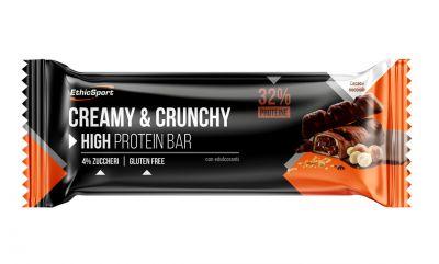 EthicSport Barretta Creamy&Crunchy Cacao e Nocciola 30g - Barretta Croccante e Cremosa - SCADENZA 31/07/2021