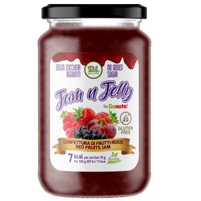JAM N JELLY FRUTTI ROSSI 280 GRAMMI - Confettura ai Frutti Rossi senza zuccheri aggiunti