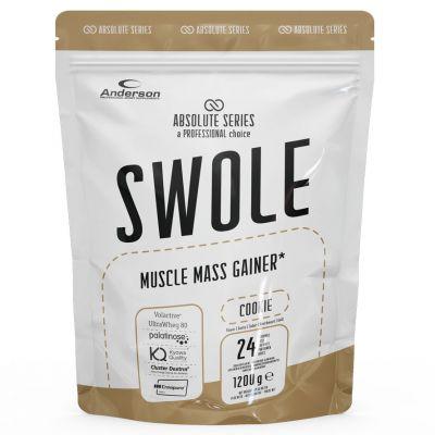 SWOLE MUSCLE MASS GAINER Busta 1200g gusto COOKIE - Integratore di proteine con zuccheri ed edulcorante