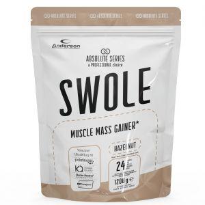 SWOLE MUSCLE MASS GAINER Busta 1200g gusto HAZELNUT - Integratore di proteine con zuccheri ed edulcorante