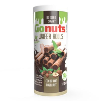 GoNuts Wafer Rolls in confezione da 135 g - Senza Zuccheri aggiunti