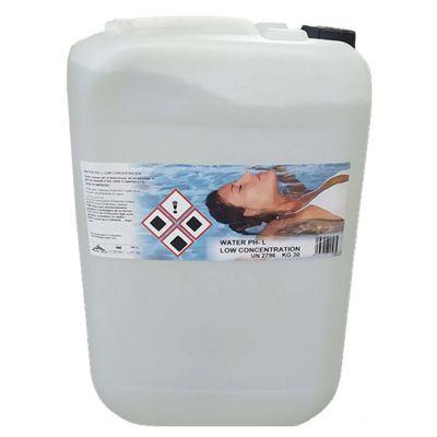 WATER PH- LIQUIDO LOW CONCENTRATION Tanica 30 kg - Correttore per la riduzione del ph in piscina