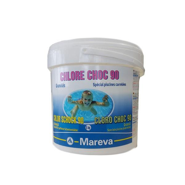CHLORE CHOC 90 in secchio da 5 kg - Cloro Speciale in granuli ideale per Piscine Piastrellate