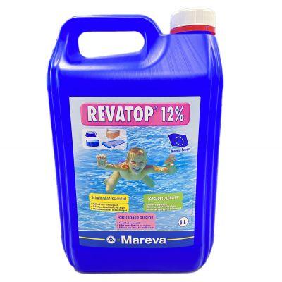 REVATOP 12% Tanica 5 Litri - Ossigeno Attivo per Trattamento Shock, Recupero Acqua Verde, Preventivo contro le alghe